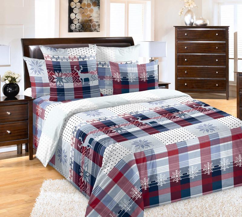 ТексДизайн Комплект постельного белья Норвегия 1, 1.5 спальный , бязь