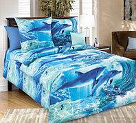 ТексДизайн Комплект постельного белья Дельфинарий 1, 1.5 спальный , бязь