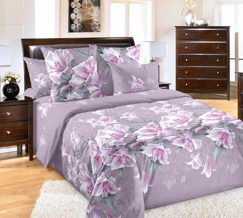 ТексДизайн Комплект постельного белья Лилия 4, 1.5 спальный , бязь