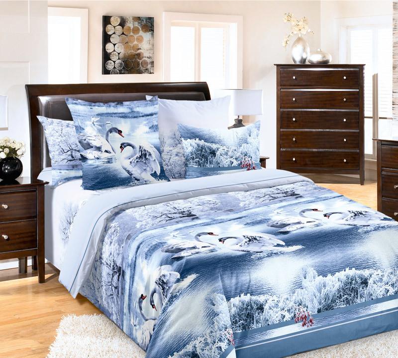 ТексДизайн Комплект постельного белья Лебединое озеро 1, 1.5 спальный , бязь