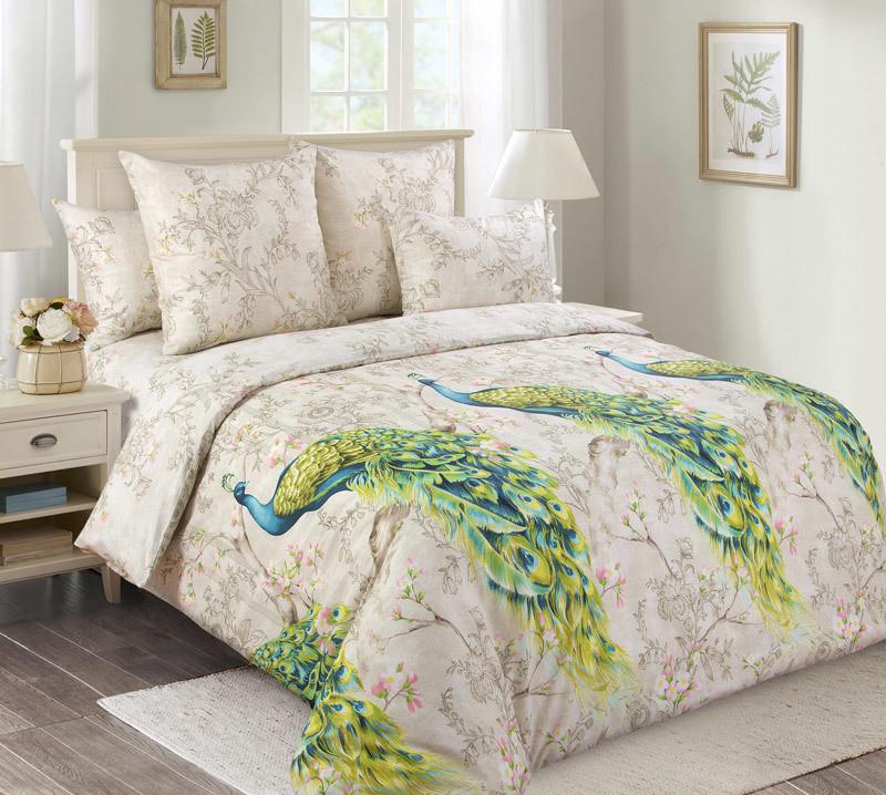 ТексДизайн Комплект постельного белья Оазис 1, 1.5 спальный , бязь