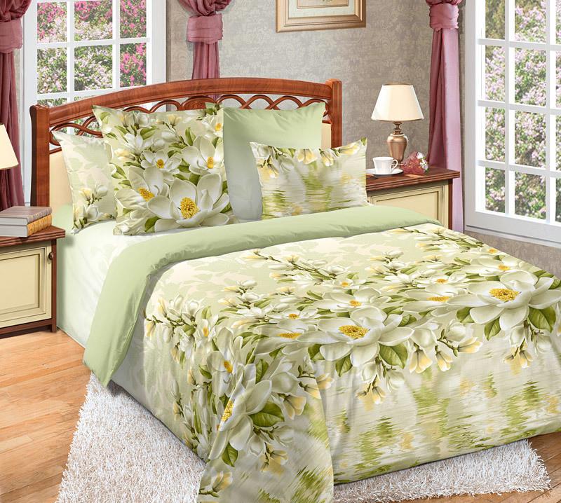 ТексДизайн Комплект постельного белья Магнолия 1, 1.5 спальный , бязь