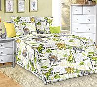 ТексДизайн Комплект постельного белья Эра Динозавров, 1.5 спальный , бязь