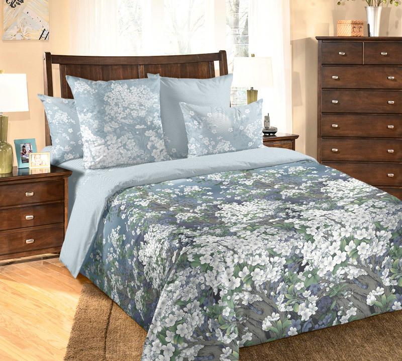 ТексДизайн Комплект постельного белья  Ночь нежна  2 спальный евро, перкаль