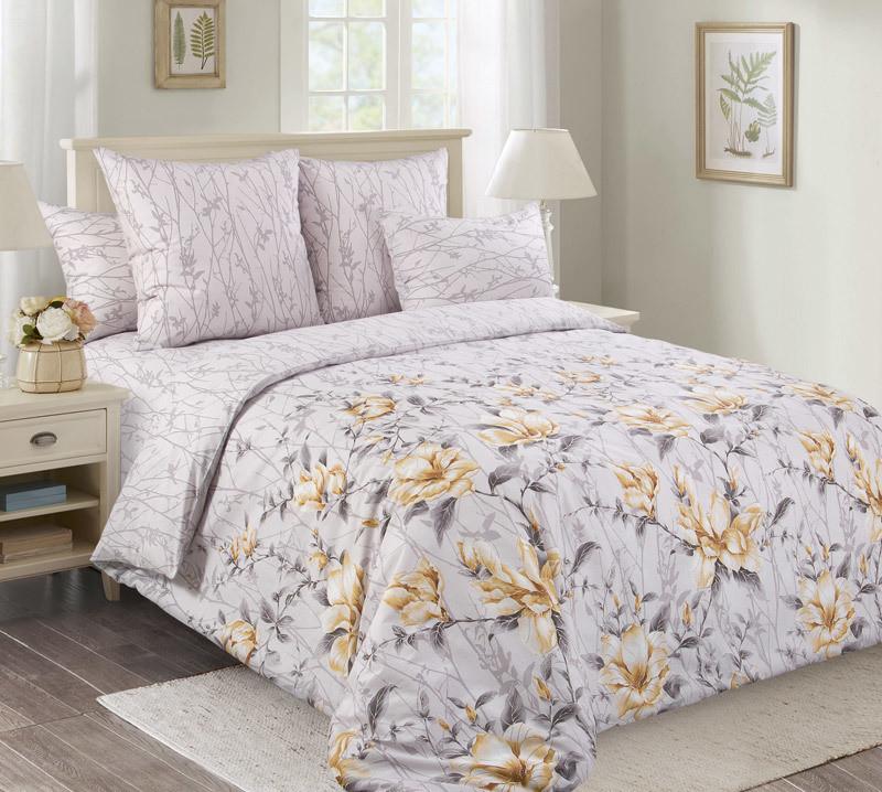 """ТексДизайн Комплект постельного белья """"Прикосновение""""  2 спальный евро, перкаль"""