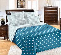 """ТексДизайн Комплект постельного белья """"Элис синий""""  2 спальный евро, перкаль"""