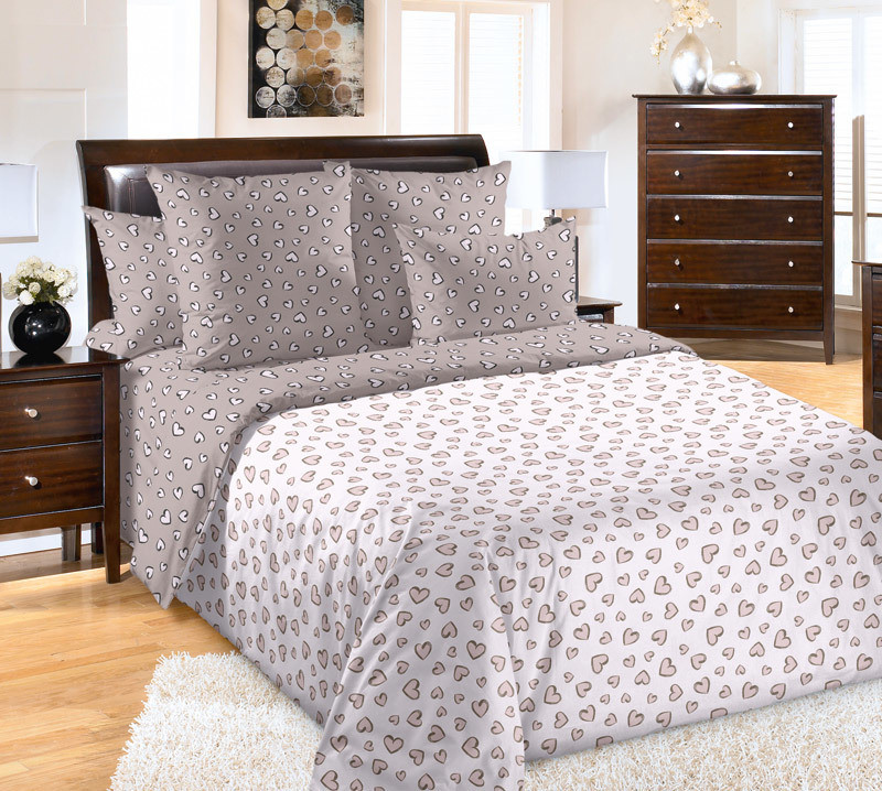 ТексДизайн Комплект постельного белья  Затаив дыхание  2 спальный евро, перкаль