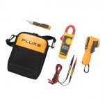 Fluke 62MAX+/323/1AC — комплект инфракрасного термометра, токоизмерительных клещей и детектор напряж ...