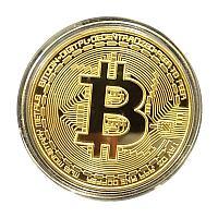 Сувенирная монета Bitcoin (Биткоин), с подарочным сертификатом, толщина 3 мм, фото 1