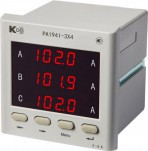 PA194I-3X4 — амперметр 3-канальный (общепромышленное исполнение)