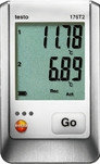 Testo 176 T2—2х-канальный логгер данных температуры с разъемом для высокоточного внешнего зонда (P ...