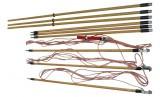 ЗПЛ-500Н-3 (сеч. 25мм2) — заземление переносное для воздушных линий 3-х фазное до 500кВ с тремя штан ...