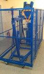 СМИ-500 — стенд для механических испытаний лестниц, предохранительных поясов, канатов, лазов  и когт ...