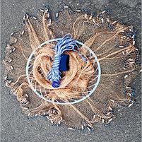 Кастинговая сеть с кольцом 4 м Ø,Капрон, спортивная снасть, фото 2