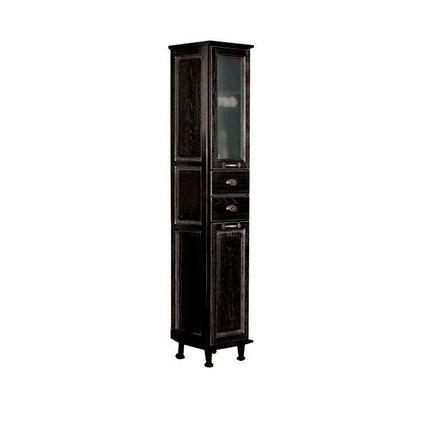 Шкаф - колонна, ЖЕРОНА, правая черное серебро 1A158903GEM5R