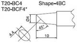 T20-BC4 паяльная сменная композитная головка для станций FX-838