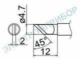 T12-KRZ паяльная сменная композитная головка для станций FX-950/ FX-951/FX-952/FM-203