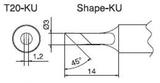 T20-KU паяльная сменная композитная головка для станций FX-838