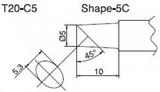 T20-C5 паяльная сменная композитная головка для станций FX-838