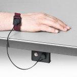 A-2202 — браслет антистатический тканевый с кнопкой 4 мм и шнуром