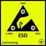 Commeng CR EP-1801 — антистатическая заземляющая панель со сменными контактными элементами для приме ...
