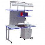 К15 ESD HPL—комплект опций антистатический для рабочего места радиоремонтника (ЛДСП с антистатичес ...