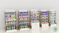 Торговое оборудование для аптек индивидуального дизайна