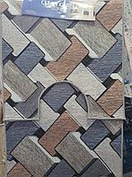 Красивый абстрактный коврик для ванной и туалета, двойка, кирпич 50х70