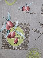 Скатерть клеенка на основе дер, плотная качество ширина 140 см Оливки