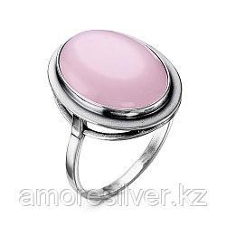 Кольцо Красная Пресня , кварц розовый, , овал 2339850К размеры - 17,5