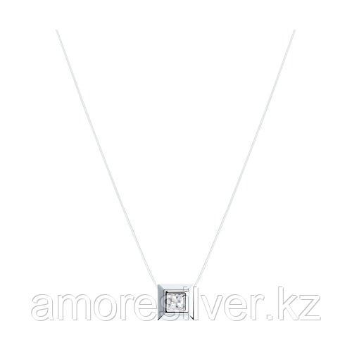 Колье SOKOLOV серебро с родием, фианит  94070150 размеры - 38 42 45