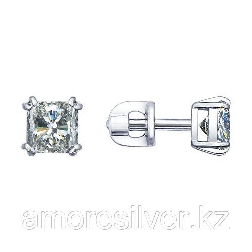 Серьги SOKOLOV серебро с родием, фианит  94021725