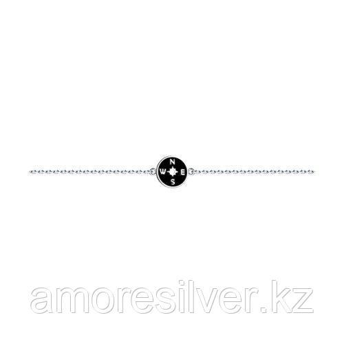 Браслет SOKOLOV серебро с родием, эмаль 94050592 размеры - 17