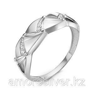 """Кольцо Delta серебро с родием, фианит, """"линии"""" с117179"""