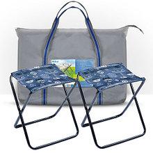 Набор НПС джинс из 2-х походных стульев в сумке