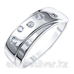 Золотые узоры  серебро с родием, фианит, геометрия 90-01-5969-00