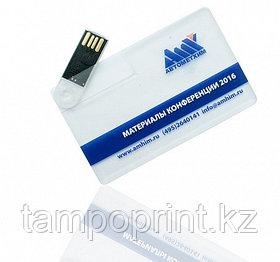 Флешка карточка прозрачная 2, 4, 8, 16, 32, 64 гб. Бесплатная доставка по Казахстану.