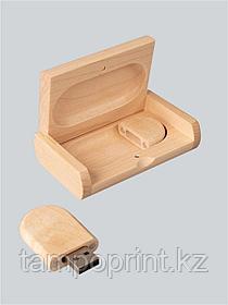 Флешка в деревянном корпусе с футляром 16 гб