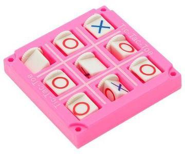Игра-стратегия на логику карманная «Крестики-нолики» (Розовый)