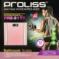 """Весы-анализаторы """"умные"""" напольные PROLISS Wizard Aid с расчетом показателей состава тела (Розовый фламинго)"""