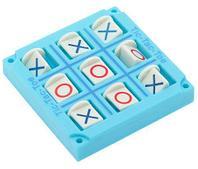 Игра-стратегия на логику карманная «Крестики-нолики» (Голубой)
