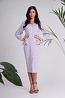 Женское осеннее хлопковое платье SandyNa 13939 лиловый 54р.