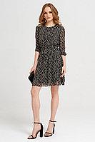 Женское летнее шифоновое черное нарядное платье Панда 40580z черно-белый 42р.