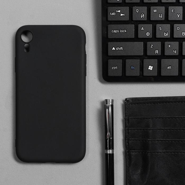 Чехол Innovation, для iPhone XR, силиконовый, матовый, черный - фото 1