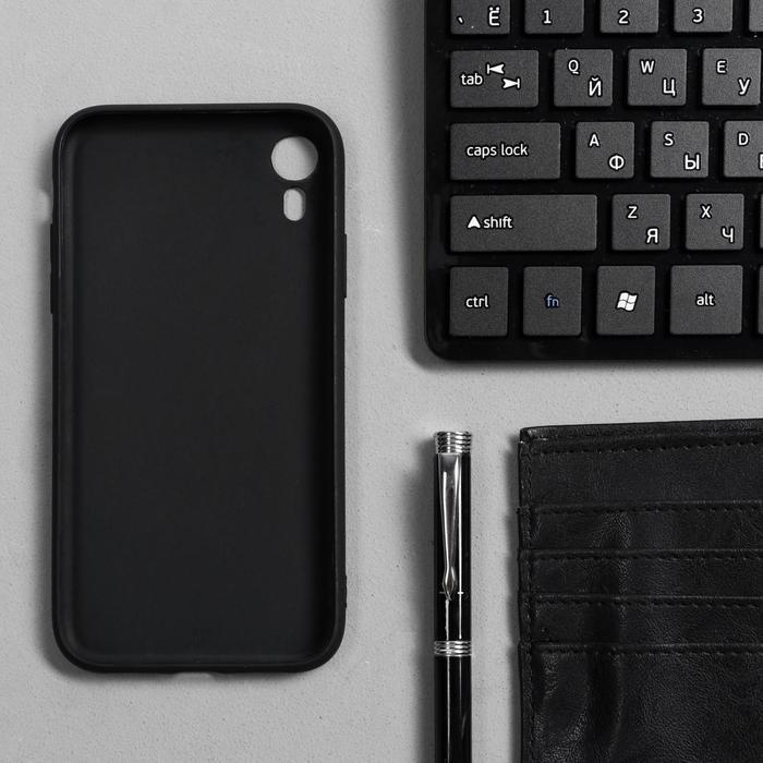 Чехол Innovation, для iPhone XR, силиконовый, матовый, черный - фото 2