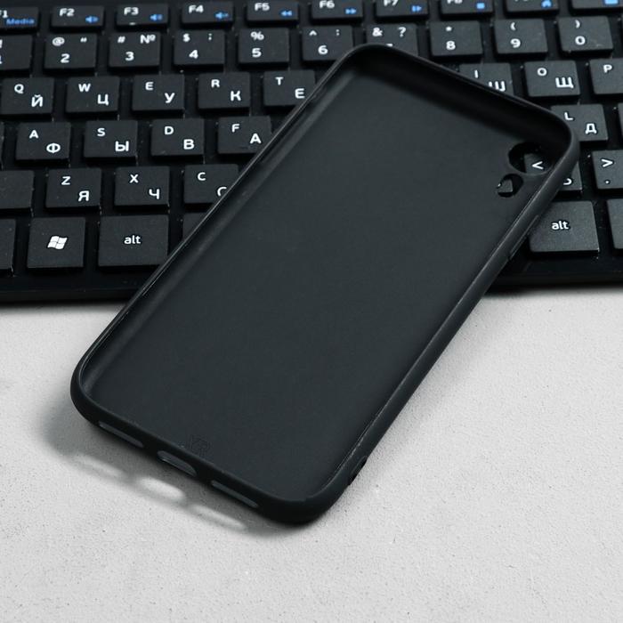 Чехол Innovation, для iPhone XR, силиконовый, матовый, черный - фото 3