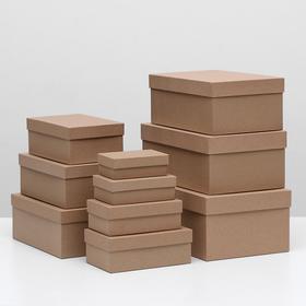 Набор коробок 10 в 1 'Крафт однотонный', 30,5 х 20 х 13 - 12 х 6,5 х 4 см - фото 1