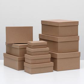 Набор коробок 10 в 1 'Крафт однотонный', 30,5 х 20 х 13 - 12 х 6,5 х 4 см - фото 2
