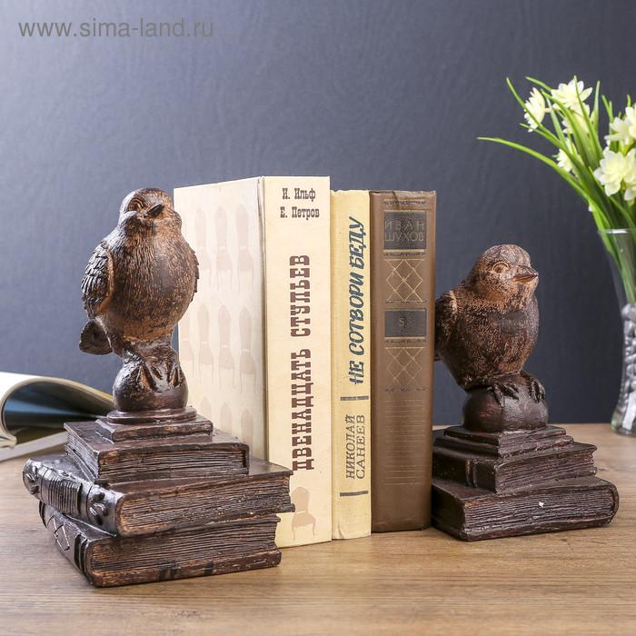 """Держатели для книг """"Птички на старых книгах"""" набор 2 шт 21х15,3х13 см - фото 1"""