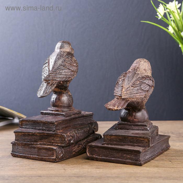"""Держатели для книг """"Птички на старых книгах"""" набор 2 шт 21х15,3х13 см - фото 3"""